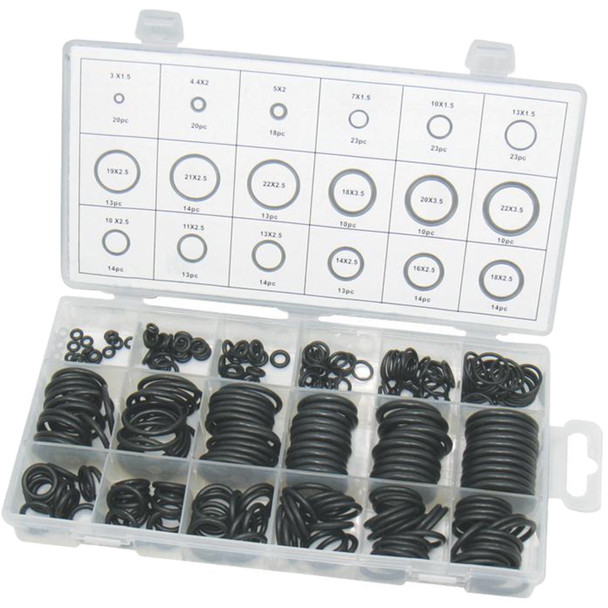 DURATOOL D01888 279 Piece O-ring Kit in 18 Popular Sizes
