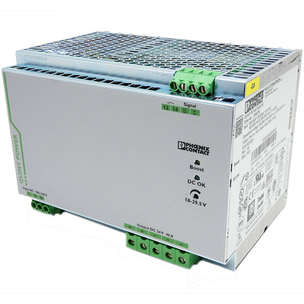 PHOENIX CONTACT QUINT-PS/1AC/24DC/40 (2866789) QUINT POWER SUPPLY FOR DIN RAIL MOUNTING