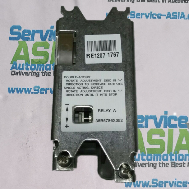 EMERSON FISHER ROSEMOUNT 38B5786X052 RELAY ASSEMBLY DIRECT AND DOUBLE ACTING DVC