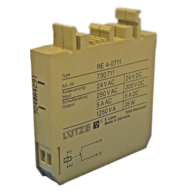 LUTZE RE4-0711 RELAY 24VAC/DC
