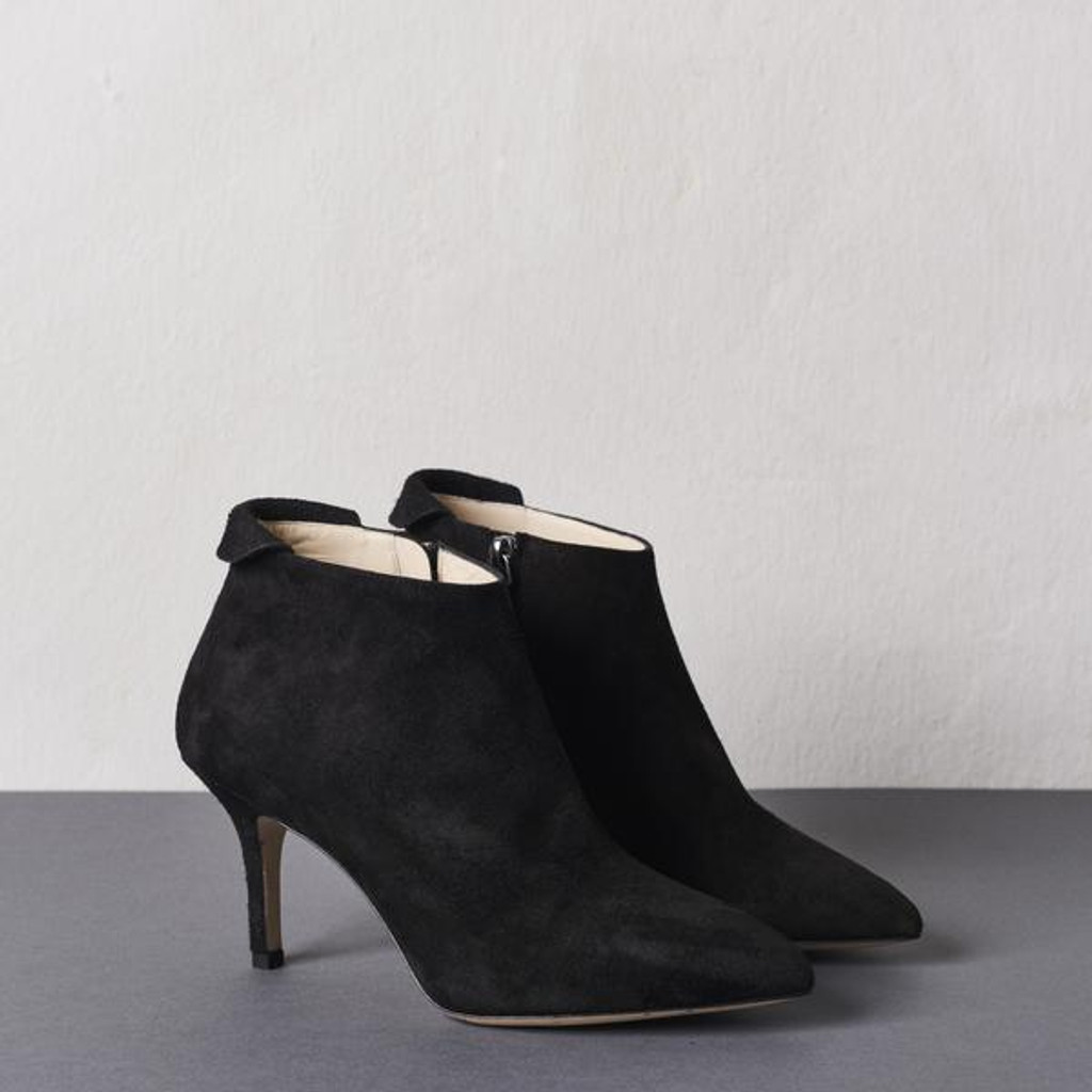 Brushed Black Ankle Boot