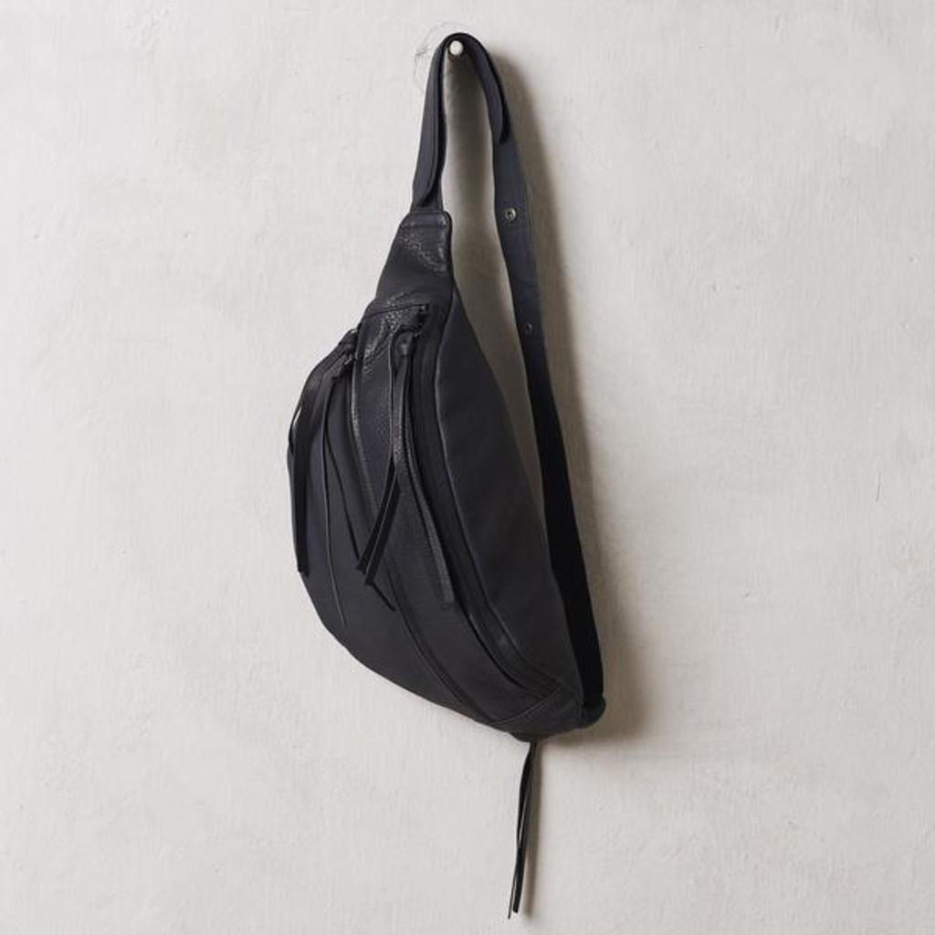 Black Nappa Oversized Bum Bag