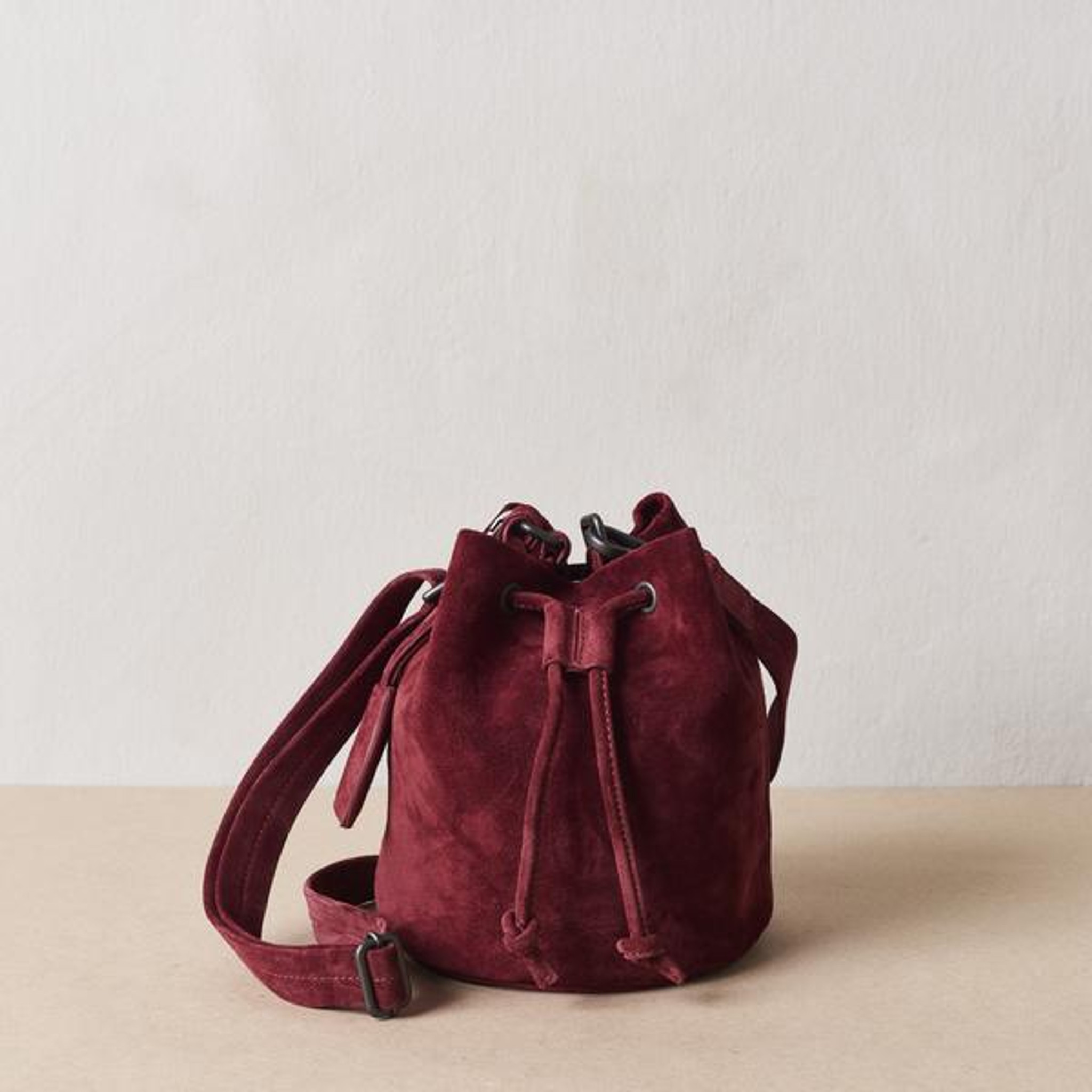 Sangria Mini Bucket Bag