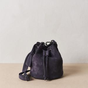 Steel Blue Mini Bucket Bag