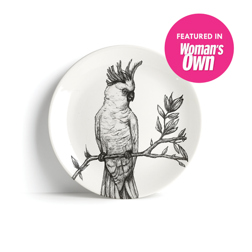 Yellow - crested Cockatoo - Plate