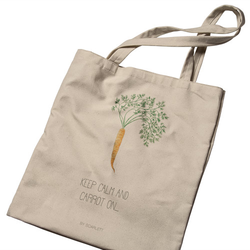 Home Grown Collection -  Canvas Bag - Keep Calm and Carrot on