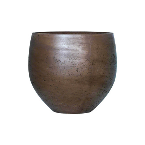 Chocolate washed brown plant pot