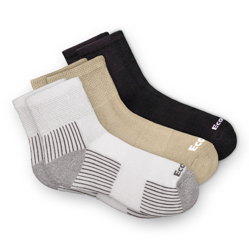 EcoSox Bamboo Quarter Diabetic Socks