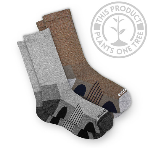 EcoSox Diabetic Non-Binding Bamboo Hiking/Outdoor Socks