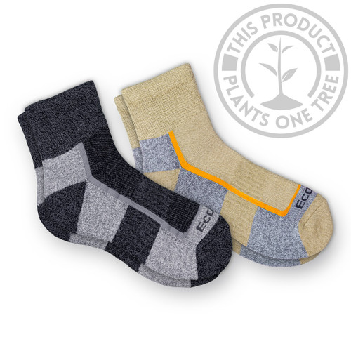 Diabetic Non-Binding Bamboo Light Hiking Quarter Socks