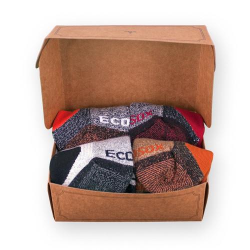 Gift Box - 4 Pairs Hiking Socks for Him