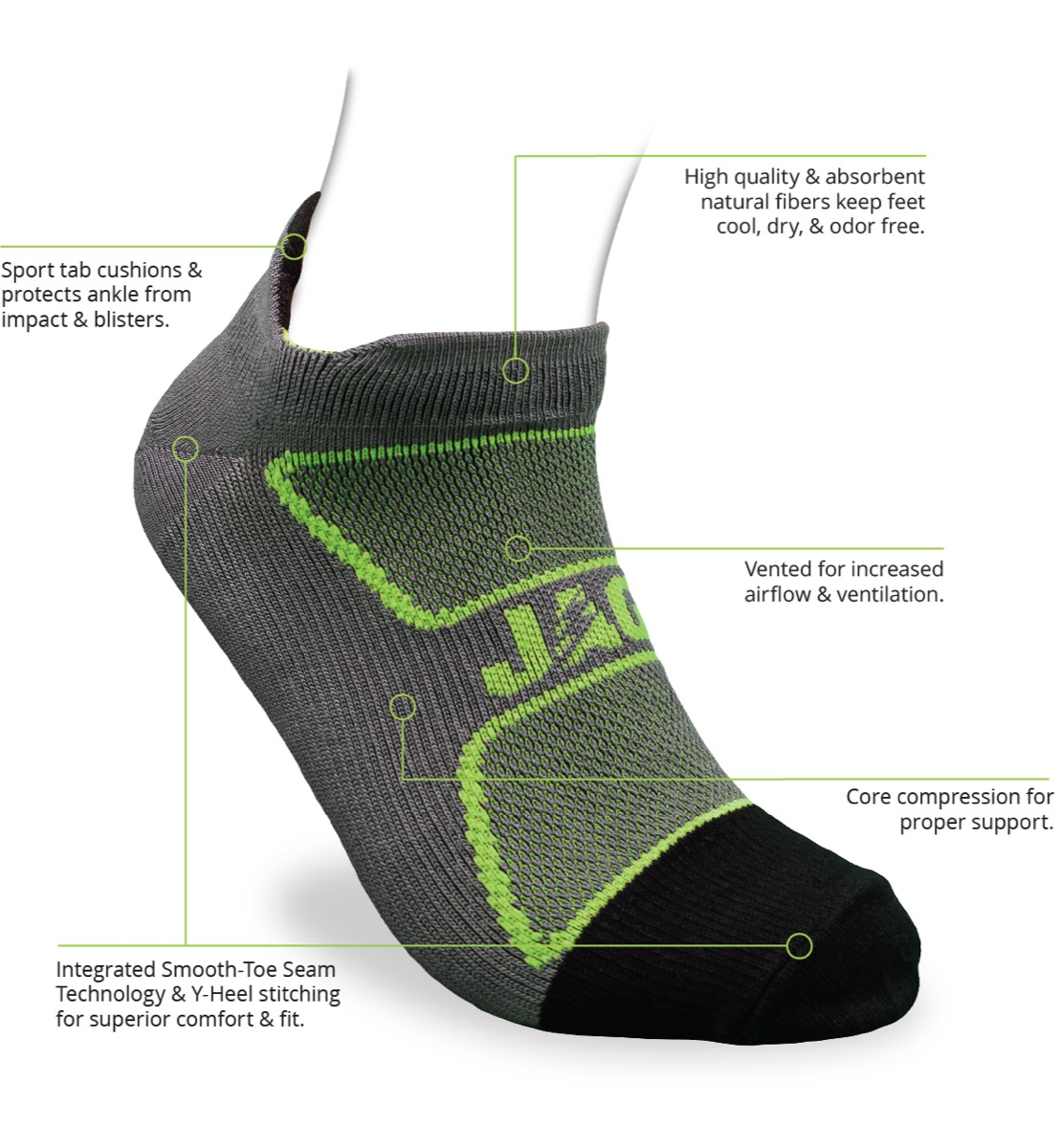 cJAG Athletic ZIG-Lite Bamboo Running Socks