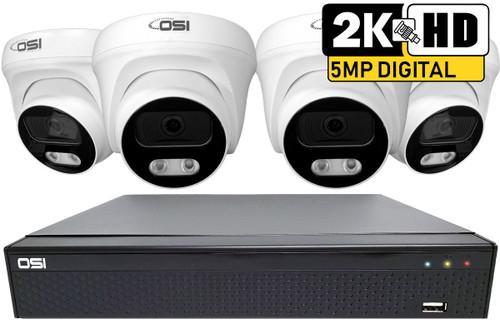 4-Camera 5MP Analog HD DIY kit with 2TB HDD installed