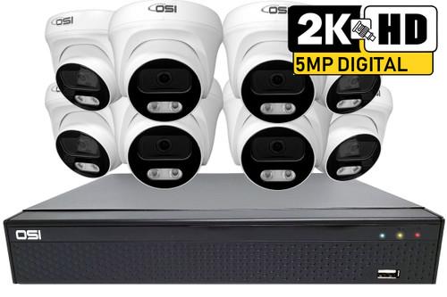 8-Camera 5MP Analog HD DIY kit with 4TB HDD installed