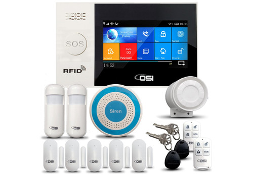 OSI DIY Smart Wi-Fi Alarm System - 14-Piece (No monthly fees) Plus FREE Shipping