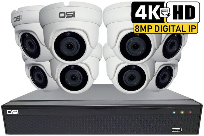 8-Camera 4K IP PoE NVR Kit with 4TB Hard Drive installed
