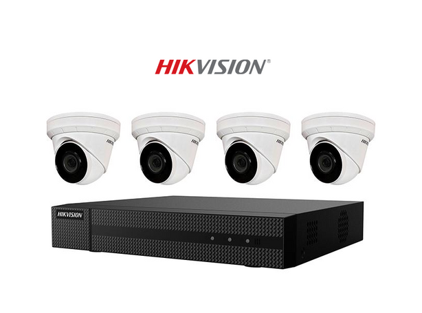 Hikvision 4-Channel Value Express NVR With 1tb Hdd & (4) 4mp Turret Cameras