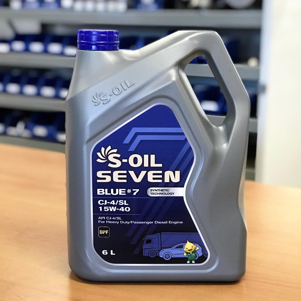 S-OIL 7 BLUE #7 CJ-4 15W-40; 6 litre; S-Oil Seven