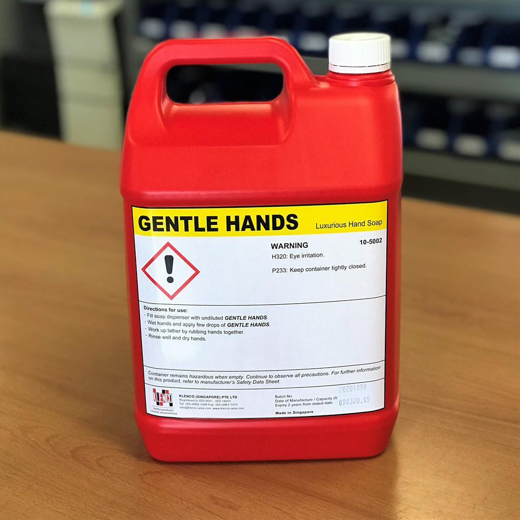 Liquid Soap; Gentle Hands Luxurious Hand Soap 5 Litre Refill Bottle
