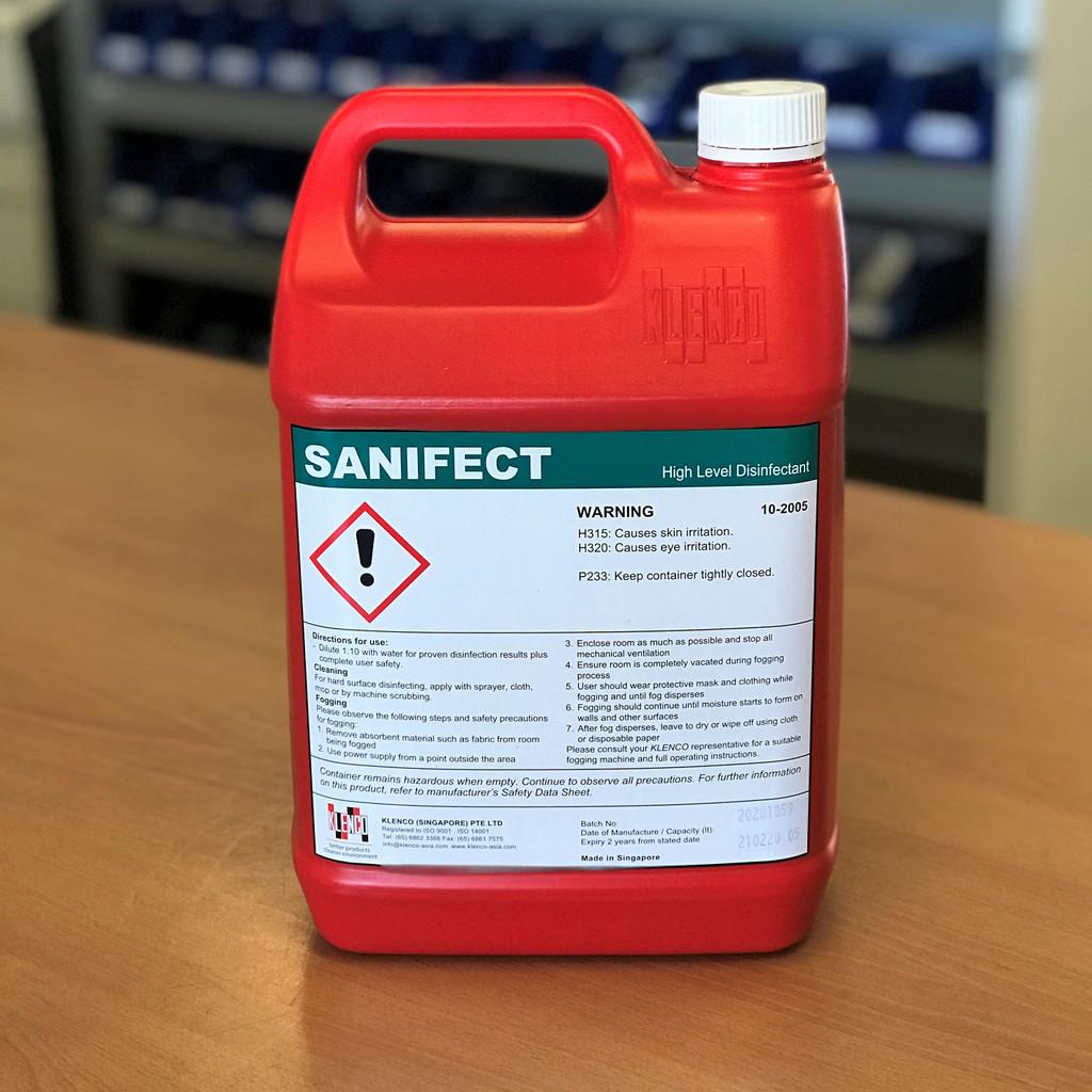 Disinfectant; Sanifect High Level Disinfectant 5 Litre Refill Bottle