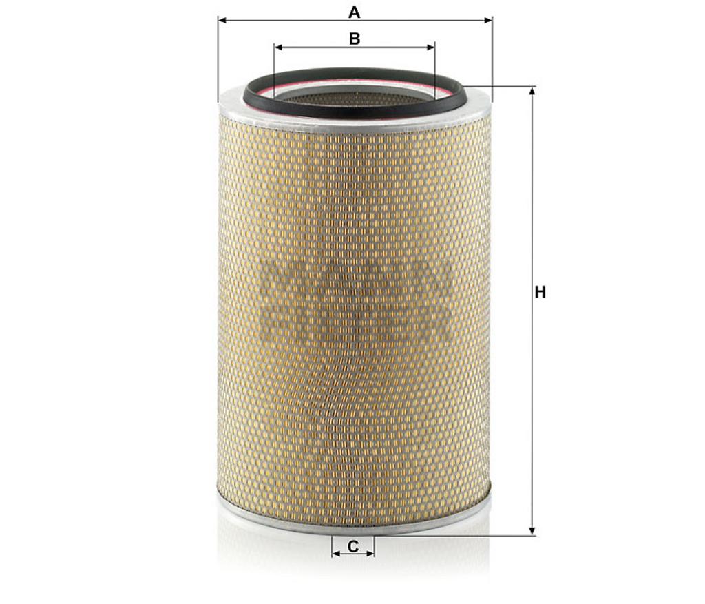 C331840 Mann Air Filter (Dimension)
