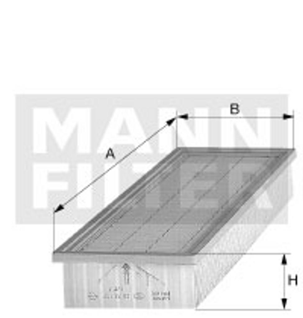 C48140 Mann Air Filter (Dimension)