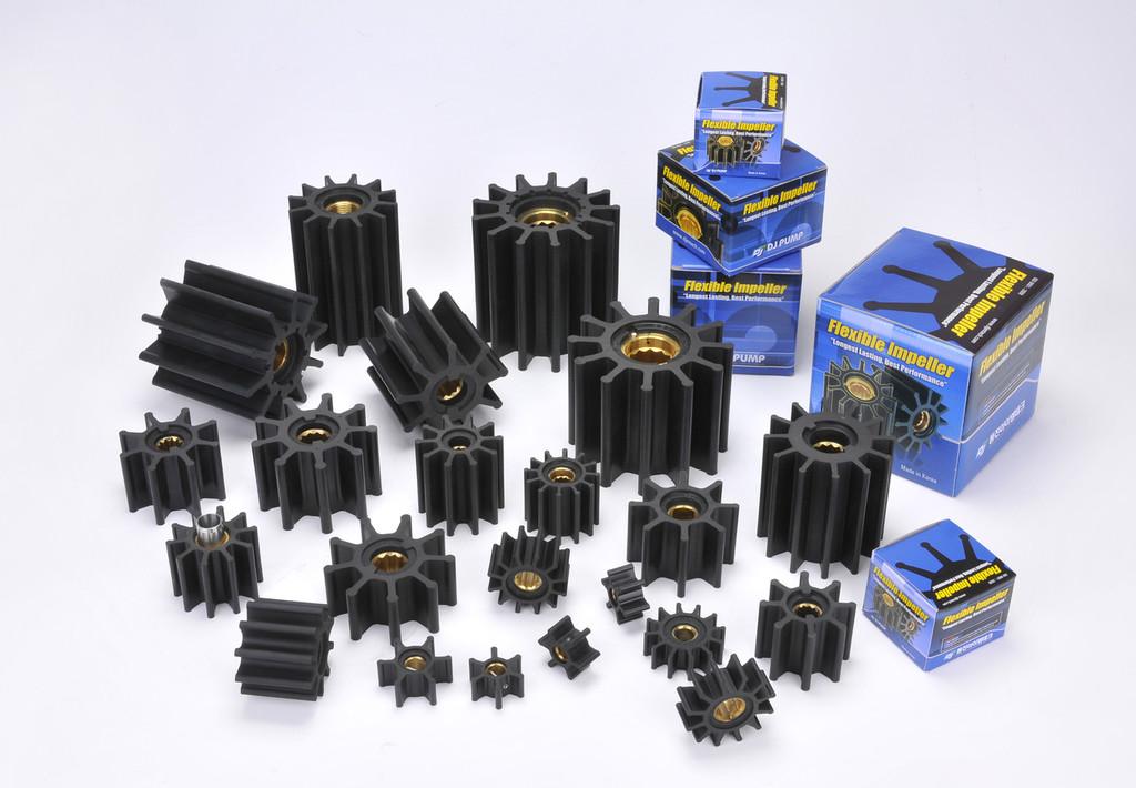 001-0801N DJ Pump Impeller; Replaces Jabsco 920-0003; Johnson 09-1208B-9