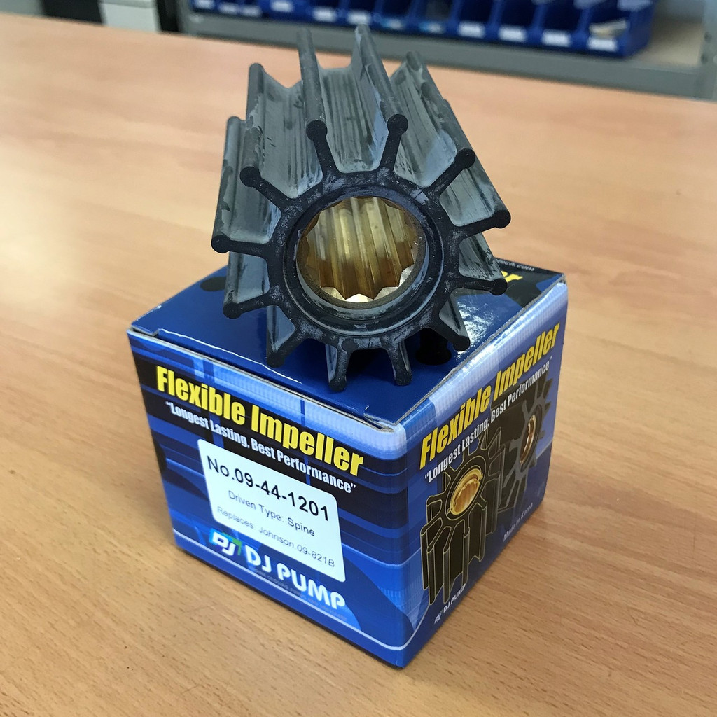09-44-1201 DJ Pump Impeller; Replaces Johnson 09-821B; Yanmar 11957442552