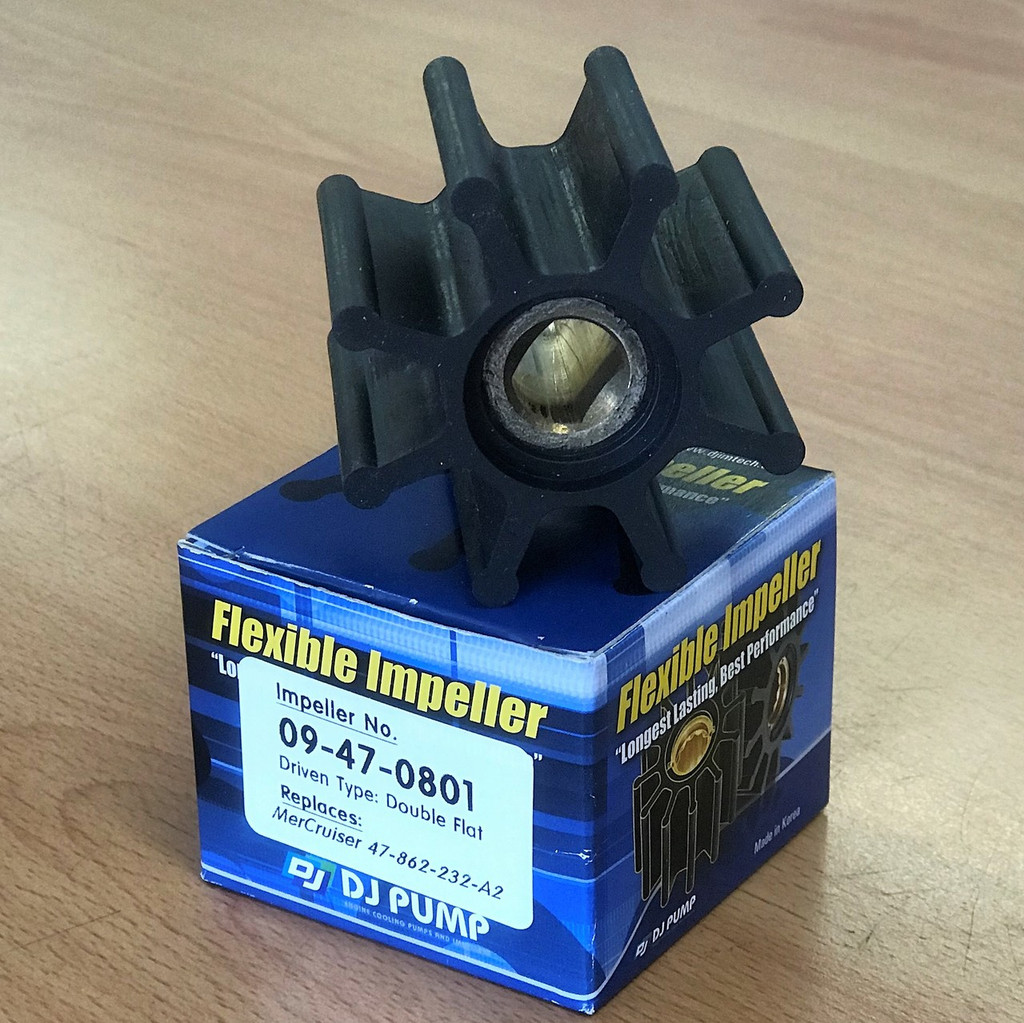 09-47-0801 DJ Pump Impeller; Replaces MerCruiser 47-862-232-A2