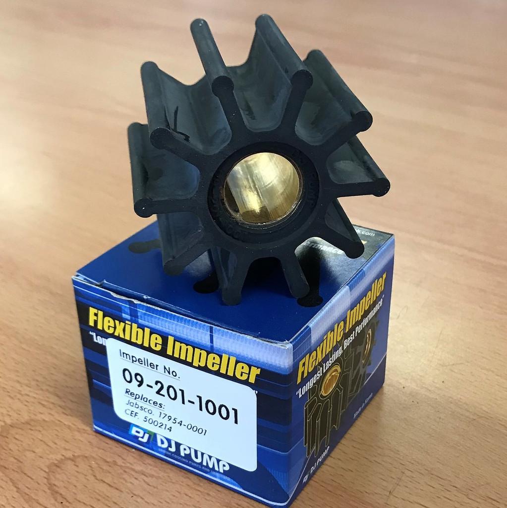 09-201-1001 DJ Pump Impeller; Replaces Jabsco 17954-0001; CEF 500214
