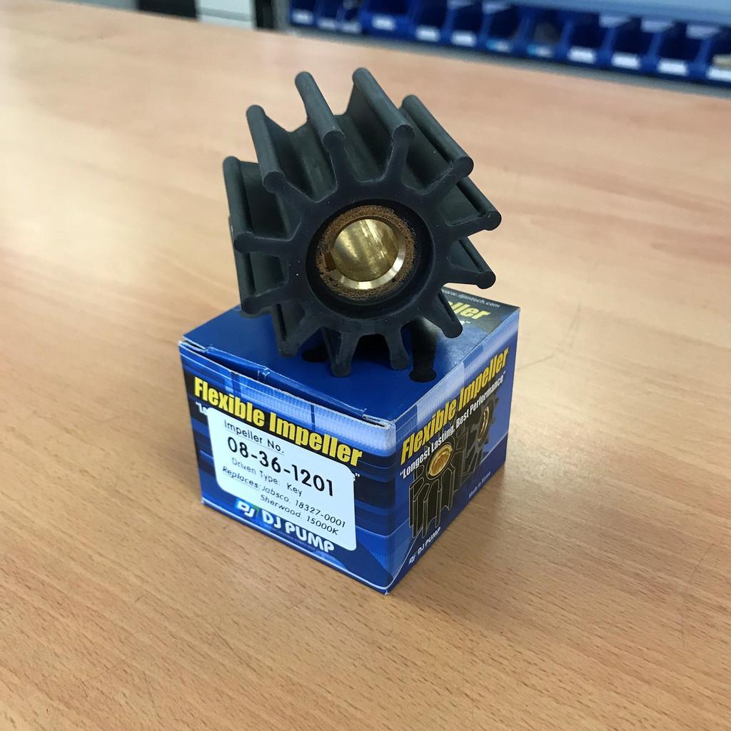 08-36-1201 DJ Pump Impeller; Replaces Jabsco 18327-0001; Sherwood 15000K
