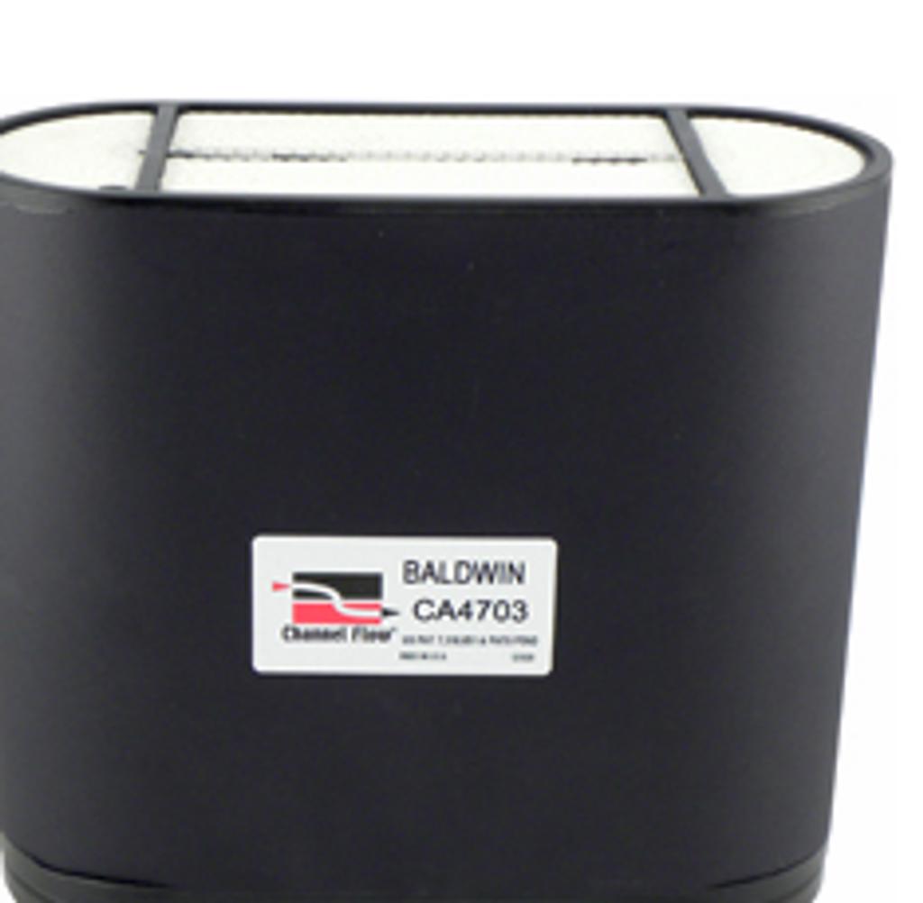 CA4703 Baldwin Channel Flow Air Element - Replaces: John Deere AL119839, AL172780 / Donaldson P606119 / Fleetguard AF26157 / SF-Filter SL82001 / Wix 46937
