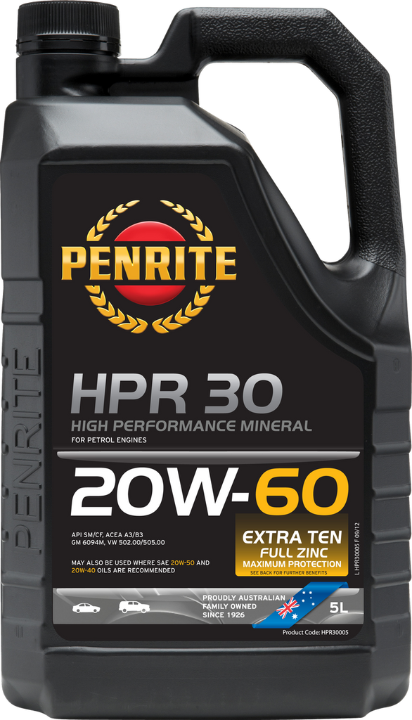 Penrite HPR 30 20W-60 5 Litres