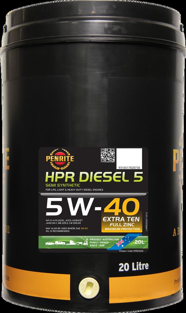 Penrite HPR Diesel 5 5W-40 20 Litres