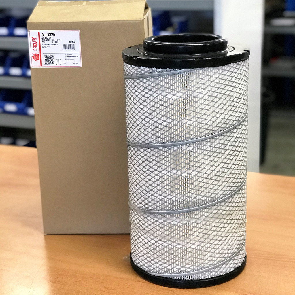 A-1325 Sakura Air Filter; Replaces Hino 17801-3380; Donaldson P902384; Wesfil WA1173