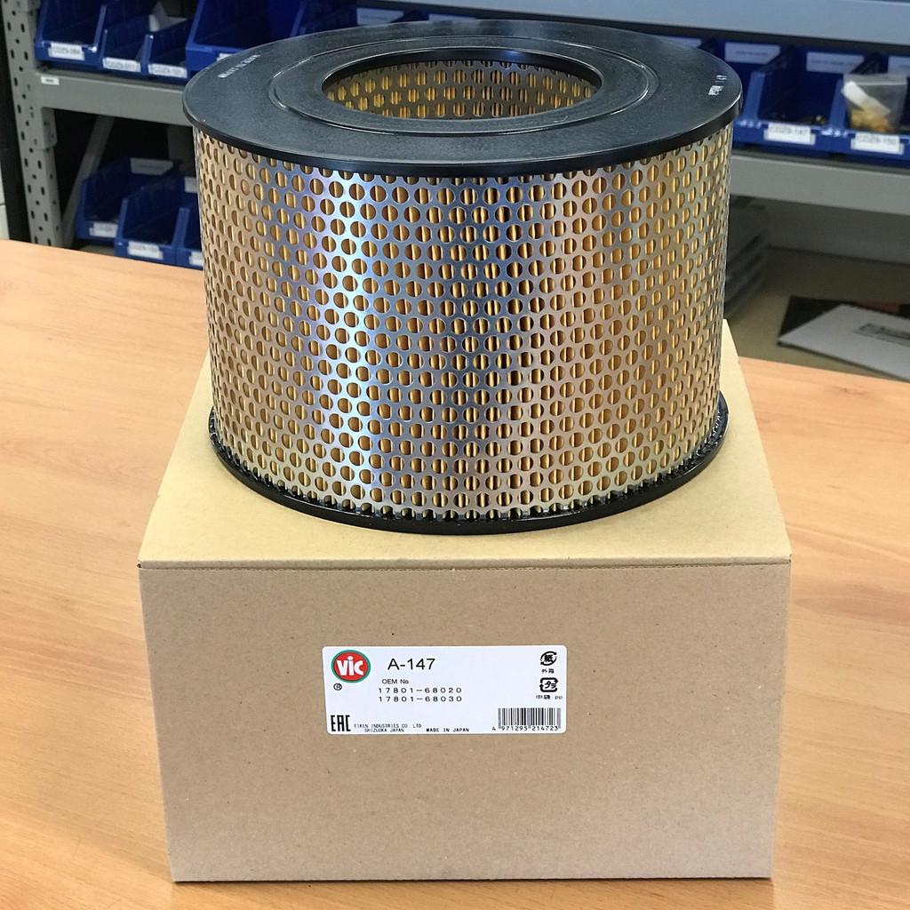 A-147 VIC Air Filter; Replaces Toyota 17801-68020; 17801-68030; Wesfil WA340, Sakura A1028