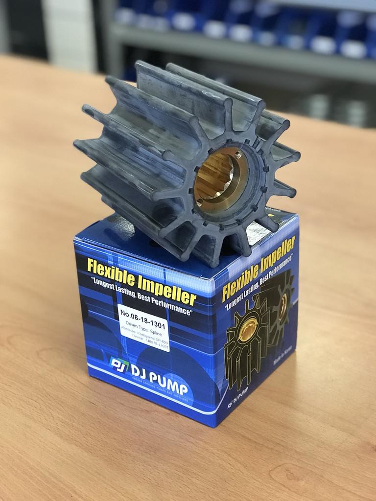 08-18-1301 DJ Pump Impeller; Replaces Kashiyama SP-600; Yanmar 148018-42031; AN5897