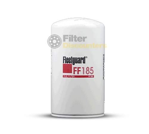 Fleetguard Fuel Filter with FF185 Filter Discounters Logo