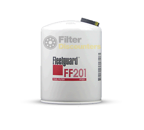 Fleetguard Fuel Filter FF201 with Filter Discounters Logo