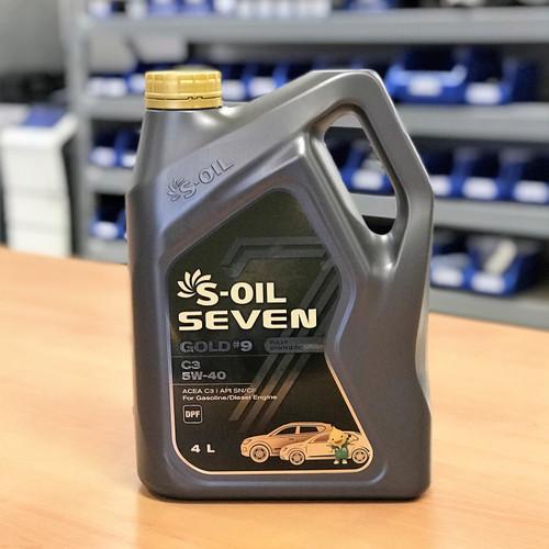 S-Oil 7 Gold #9 C3 5W-40 4L; S-Oil Seven