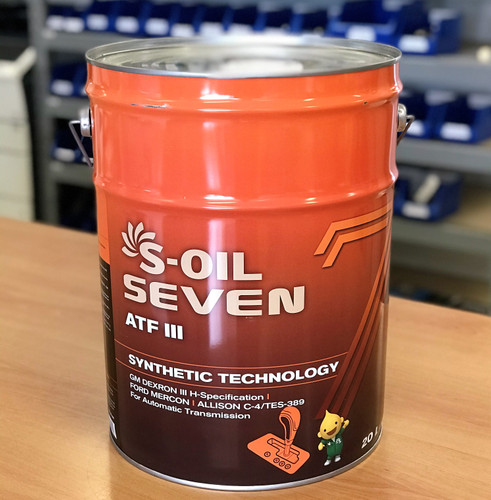 S-OIL 7 ATF III Auto Trans Fluid; Dexron III; 20 litre; S-Oil Seven Australia