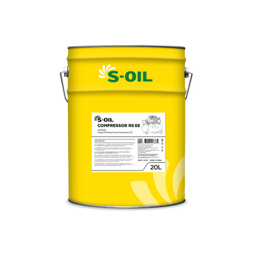 S-Oil 7 Compressor RS68; Full Synthetic; ISO VG 68; 20 litre; Synthetic Long-Life Rotary Screw Compressor Oil