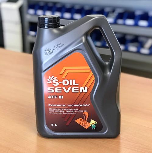 S-OIL 7 ATF III Auto Trans Fluid; Dexron III; 4 litre; S-Oil Seven Australia