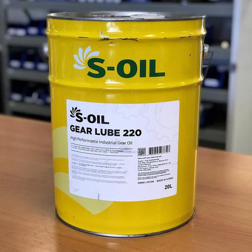 S-Oil 7 Gear Lube 220 20L; High Performance Industrial Gear Oil