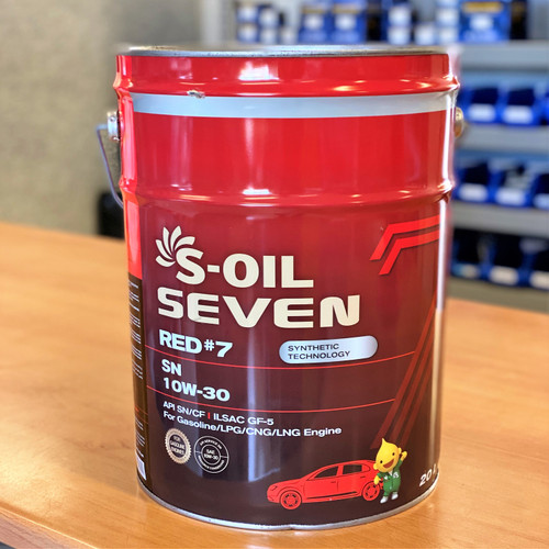 S-Oil 7 Red #7 SN 10W-30 20L; S-Oil Lubricants Australia