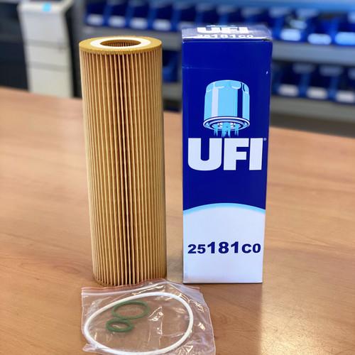 25.181.C0 UFI Oil Filter; Replaces 25.181.00; 1742037; LF17486; P953329; HU1077/1X; 2037556; 2022275; 1742037; 1742032