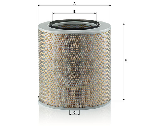 C351592 Mann Air Filter (Dimension)