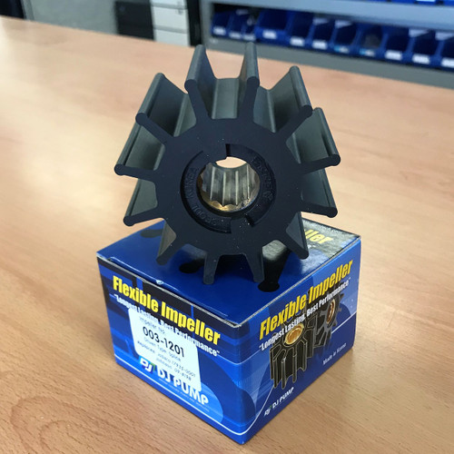 003-1201 DJ Pump Impeller; Replaces Jabsco 17935-0001; Johnson 09-819B