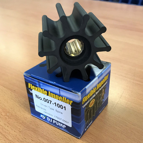 007-1001 DJ Pump Impeller; Replaces Jabsco 17937-0001