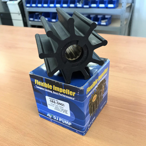086-0901 DJ Pump Impeller; Replaces Jabsco 6760-0001; Johnson 09-802B; Kashiyama SP-280; 12561342762